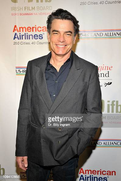 Actor Peter Gallagher arrives at the USIreland Alliance Celebration Honoring Paul Rudd And Sarah Bolger at the Ebell Club of Los Angeles on February...