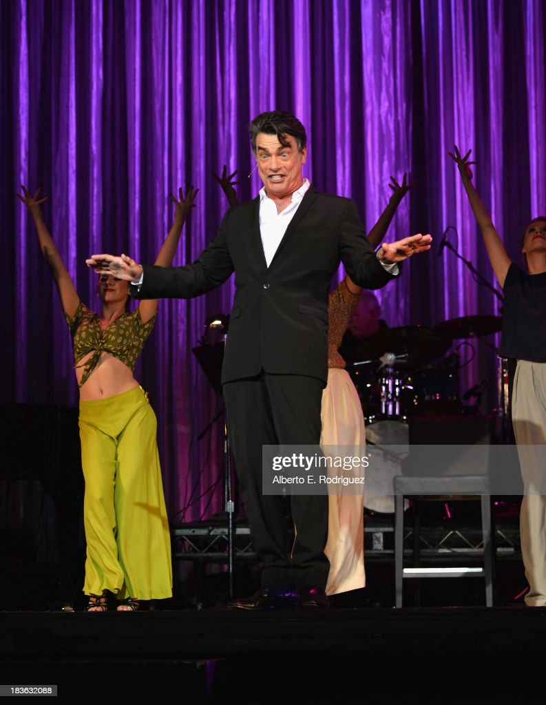 Actor <a gi-track='captionPersonalityLinkClicked' href=/galleries/search?phrase=Peter+Gallagher+-+Actor&family=editorial&specificpeople=171778 ng-click='$event.stopPropagation()'>Peter Gallagher</a> attends The National Breast Cancer Coalition Fund presents The 13th Annual Les Girls at the Avalon on October 7, 2013 in Hollywood, California.
