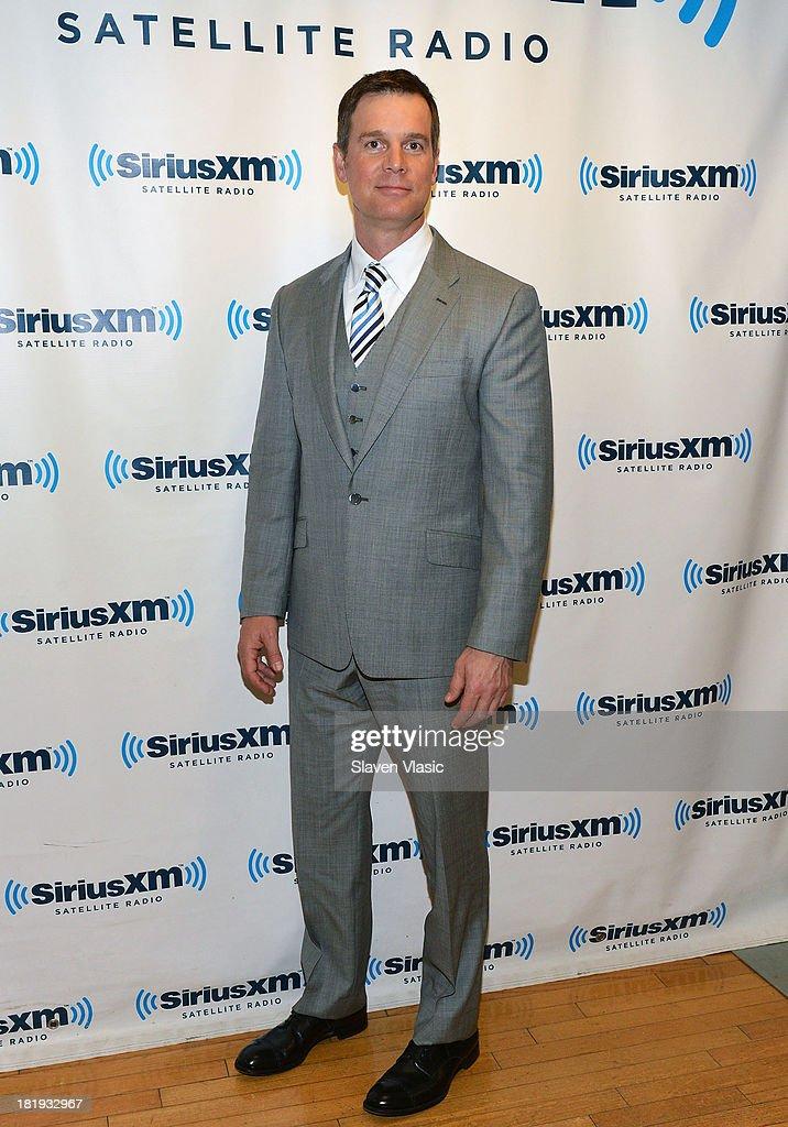 Actor Peter Krause visits SiriusXM Studios on September 26, 2013 in New York City.