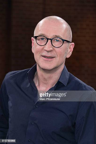 Actor Peter Lohmeyer attends the 'Koelner Treff' TV Show at the WDR Studio on March 4 2016 in Cologne Germany