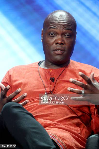 Actor Peter Macon of 'The Orville' speaks onstage during the FOX portion of the 2017 Summer Television Critics Association Press Tour at The Beverly...