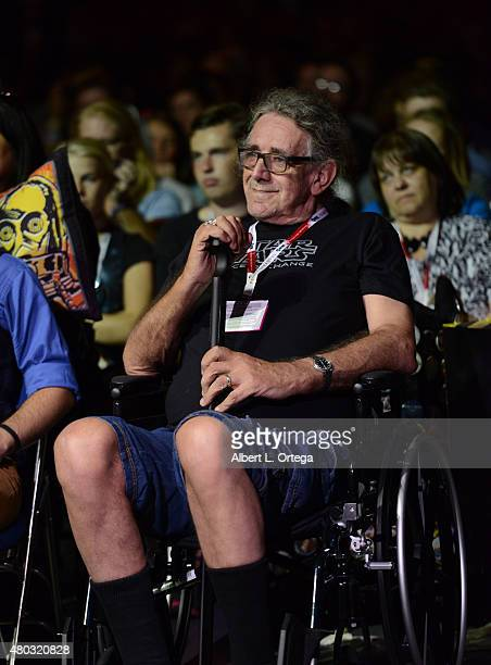 Actor Peter Mayhew attends the Lucasfilm panel during ComicCon International 2015 at the San Diego Convention Center on July 10 2015 in San Diego...