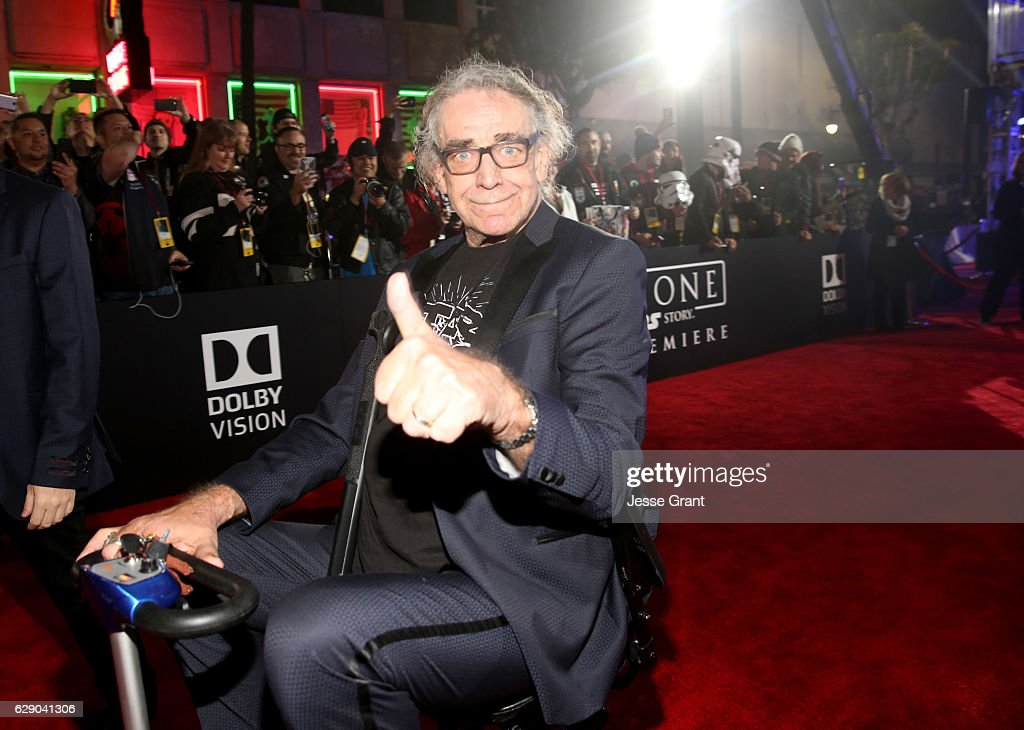 Actor Peter Mayhew attends The World Premiere of Lucasfilm's highly anticipated, first-ever, standalone Star Wars adventure, 'Rogue One: A Star Wars Story' at the Pantages Theatre on December 10, 2016 in Hollywood, California.