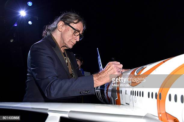 """Actor Peter Mayhew attends the World Premiere of """"Star Wars The Force Awakens"""" at the Dolby El Capitan and TCL Theatres on December 14 2015 in..."""