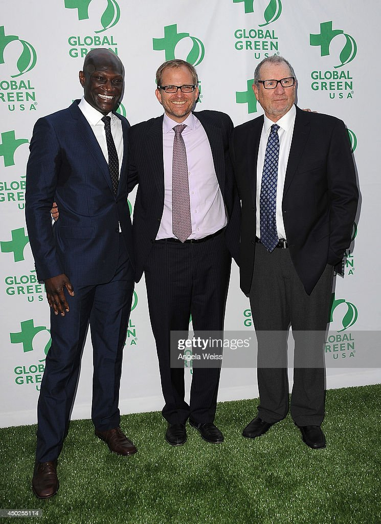 Actor <a gi-track='captionPersonalityLinkClicked' href=/galleries/search?phrase=Peter+Mensah&family=editorial&specificpeople=3572270 ng-click='$event.stopPropagation()'>Peter Mensah</a>, Global Green USA Event Co-Founder and Board Member <a gi-track='captionPersonalityLinkClicked' href=/galleries/search?phrase=Matt+Petersen&family=editorial&specificpeople=221572 ng-click='$event.stopPropagation()'>Matt Petersen</a> and actor <a gi-track='captionPersonalityLinkClicked' href=/galleries/search?phrase=Ed+O%27Neill&family=editorial&specificpeople=777163 ng-click='$event.stopPropagation()'>Ed O'Neill</a> arrive at Global Green USA's 18th Annual Millennium Awards at Fairmont Miramar Hotel on June 7, 2014 in Los Angeles, California.