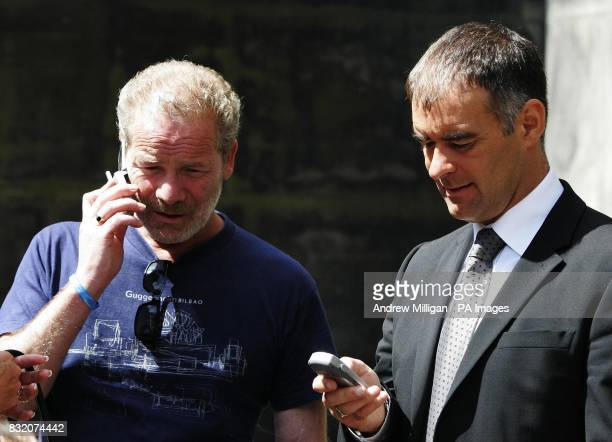 Actor Peter Mullan with of Tommy Sheridan at the Court of Session in Edinburgh where he is lending his support to the Sheridan family for the ongoing...