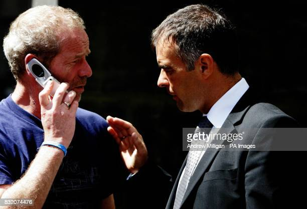 Actor Peter Mullan with Tommy Sheridan at the Court of Session in Edinburgh where he is lending his support to the Sheridan family for the ongoing...