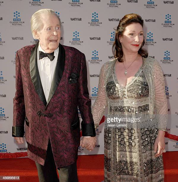 Actor Peter O'Toole and daughter Kate O'Toole attend the TCM Classic Film Festival opening night gala and world premiere of the newly restored 'An...