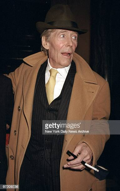 Actor Peter O'Toole at a party and screening of the threepart sixhour PBS series 'The Irish In America Long Journey Home' at the Customs House on...