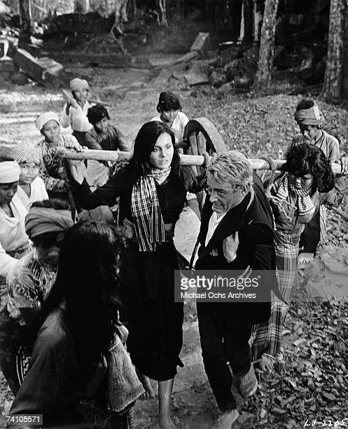 Actor Peter O'Toole performs a scene with actress Daliah Lavi filmed in 1964 for the movie 'Lord Jim' directed by Richard Brooks The film was...