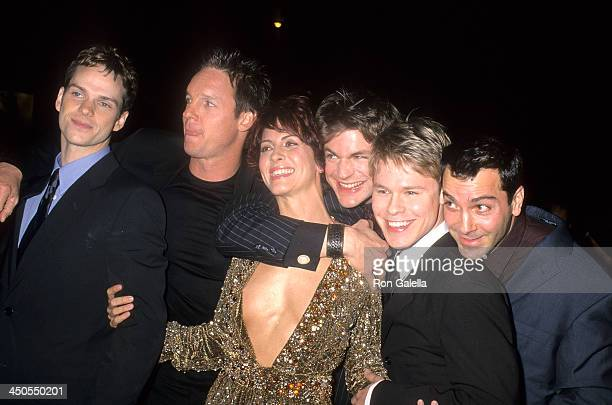 Actor Peter Paige actor Chris Potter actress Michelle Clunie actor Gale Harold actor Randy Harrison and actor Scott Lowell attend the Screening of...