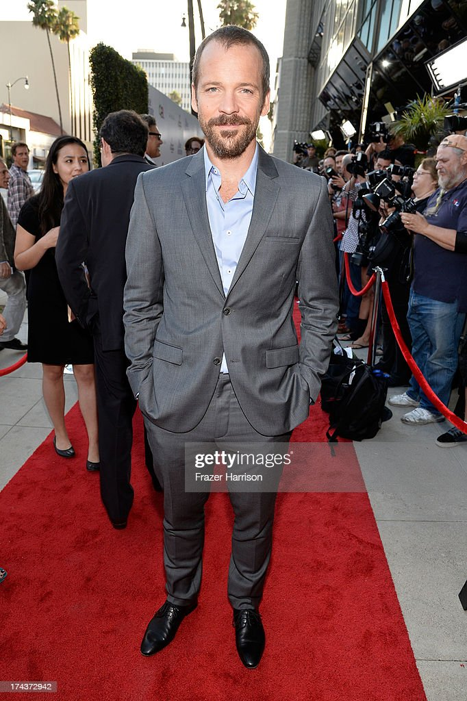 Actor <a gi-track='captionPersonalityLinkClicked' href=/galleries/search?phrase=Peter+Sarsgaard&family=editorial&specificpeople=210547 ng-click='$event.stopPropagation()'>Peter Sarsgaard</a> arrives at the premiere of 'Blue Jasmine' hosted by AFI & Sony Picture Classics at AMPAS Samuel Goldwyn Theater on July 24, 2013 in Beverly Hills, California.