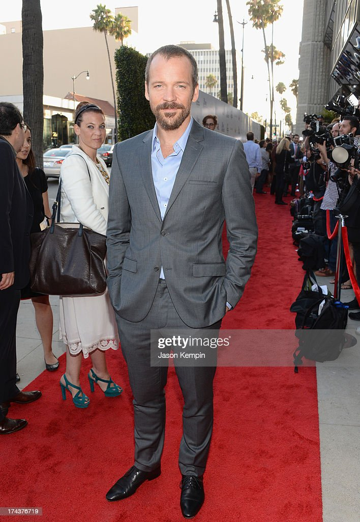 Actor Peter Sarsgaard arrives at the premiere of 'Blue Jasmine' hosted by AFI & Sony Picture Classics at AMPAS Samuel Goldwyn Theater on July 24, 2013 in Beverly Hills, California.