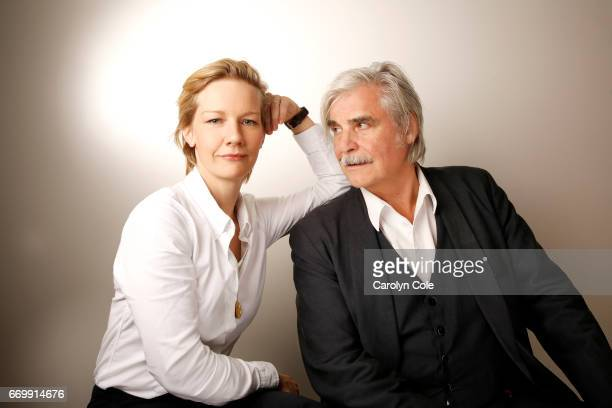 Actor Peter Simonischek and actress Sandra Huller are photographed for Los Angeles Times on October 4 2016 in New York City PUBLISHED IMAGE CREDIT...