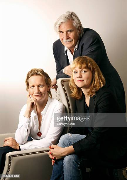 Actor Peter Simonischek director Maren Ade and actress Sandra Huller are photographed for Los Angeles Times on October 4 2016 in New York City...