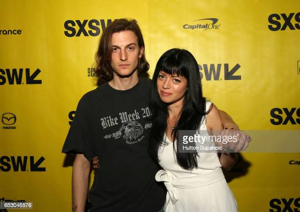 Actor Peter Vack and director Natalia Leite attend the premiere of 'MFA' during 2017 SXSW Conference and Festivals at Stateside Theater on March 13...