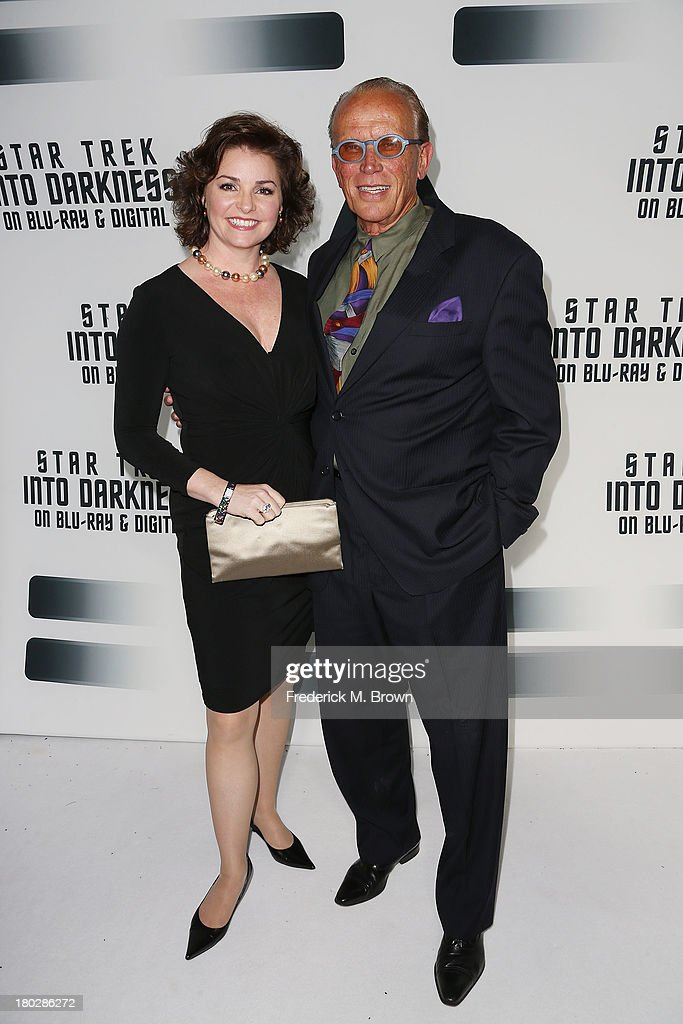 Actor <a gi-track='captionPersonalityLinkClicked' href=/galleries/search?phrase=Peter+Weller&family=editorial&specificpeople=224823 ng-click='$event.stopPropagation()'>Peter Weller</a> and his wife attend 'Star Trek Into Darkness' Blu-ray/DVD Release Event at the California Science Center on September 10, 2013 in Los Angeles, California.