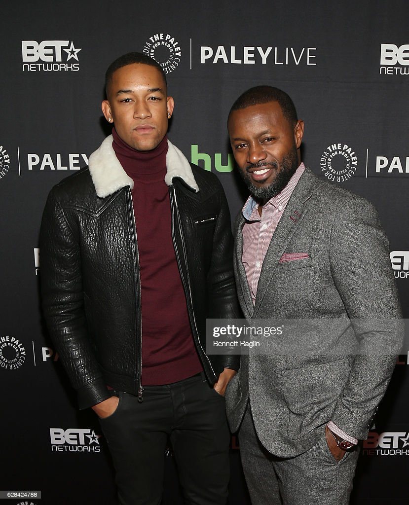 Actor Peyton Alex Smith and Executive producer Rob Hardy attend BET Presents 'An Evening With 'The Quad'' At The Paley Center on December 7, 2016 in New York City.