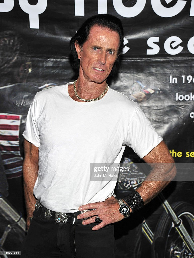Actor Phil Pitzer attends the premiere of 'Easy Rider The Ride Back' Ride-In at Bartels' Harley-Davidson on September 17, 2013 in Marina del Rey, California.