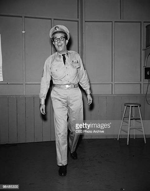 Actor Phil Silvers as Sgt Ernest G 'Ernie' Bilko on 'The Phil Silvers Show' in December 5 1955 in New York City New York