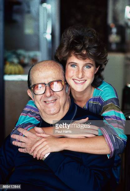 Actor Phil Silvers who played Sgt Bilko on Television with has daughter Kathy Silvers In Century City Los Angeles California January 1 1983