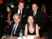 Actor Philip Seymour Hoffman and 'Capote' producers Michael Ohoven Caroline Baron and William Vince attend the 2006 Producers Guild awards held at...