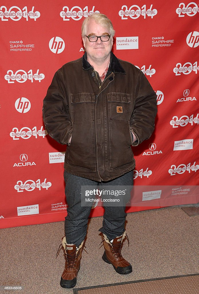 Actor Philip Seymour Hoffman attends the 'God's Pocket' premiere at Eccles Center Theatre during the 2014 Sundance Film Festival on January 17 2014...