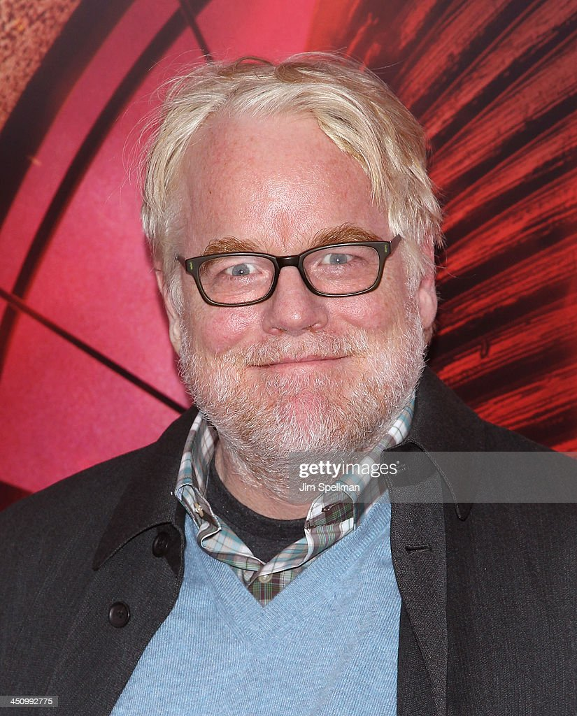 Actor <a gi-track='captionPersonalityLinkClicked' href=/galleries/search?phrase=Philip+Seymour+Hoffman&family=editorial&specificpeople=212791 ng-click='$event.stopPropagation()'>Philip Seymour Hoffman</a> attends the 'Hunger Games: Catching Fire' New York Premiere at AMC Lincoln Square Theater on November 20, 2013 in New York City.