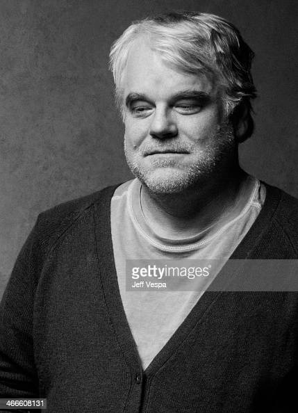 Actor Philip Seymour Hoffman is photographed at the Sundance Film Festival for Self Assignment on January 19 2014 in Park City Utah
