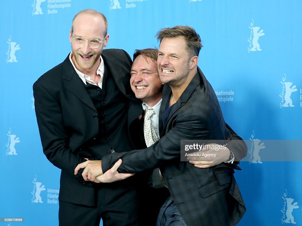 Actor Philipp Hochmair, director Haendl Klaus and actor Lukas Turtur attend the 'Tomcat' (Kater) photo call during the 66th Berlinale International Film Festival Berlin at Grand Hyatt Hotel on February 13, 2016 in Berlin, Germany.