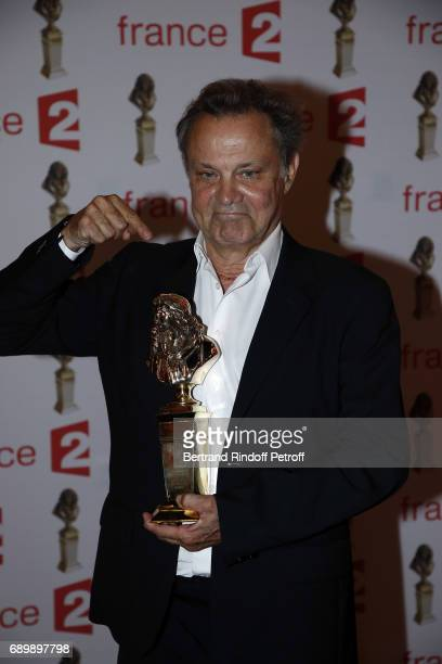 Actor Philippe Caubere receives a 'Moliere' award during 'La Nuit des Molieres 2017' at Folies Bergeres on May 29 2017 in Paris France