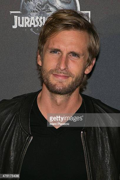 Actor Philippe Lacheau attends the 'Jurassic World' Premiere at Cinema UGC Normandie on May 29 2015 in Paris France