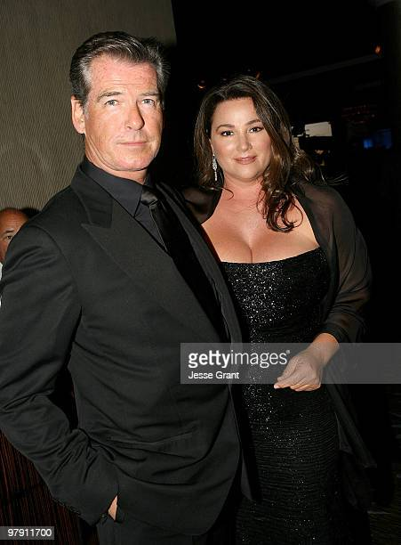 Actor Pierce Bronson and Keely Shaye Smith attend the 24th Genesis Awards at The Beverly Hilton Hotel on March 20 2010 in Beverly Hills California