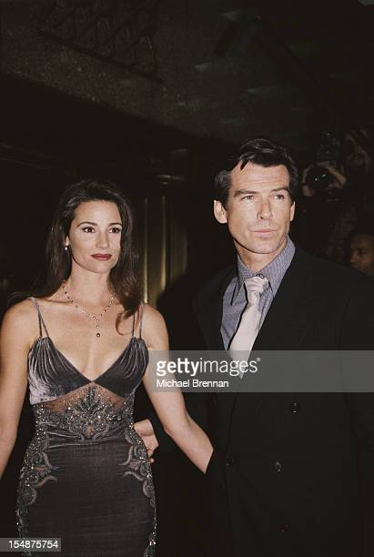 Actor Pierce Brosnan and his girlfriend Keely Shaye Smith attend the New York City premiere of the film 'Goldeneye' in which Brosnan plays James Bond...