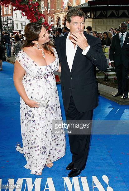 Actor Pierce Brosnan and his wife Keely Shaye Smith attends the Mamma Mia The Movie world premiere held at the Odeon Leicester Square on June 30 2008...