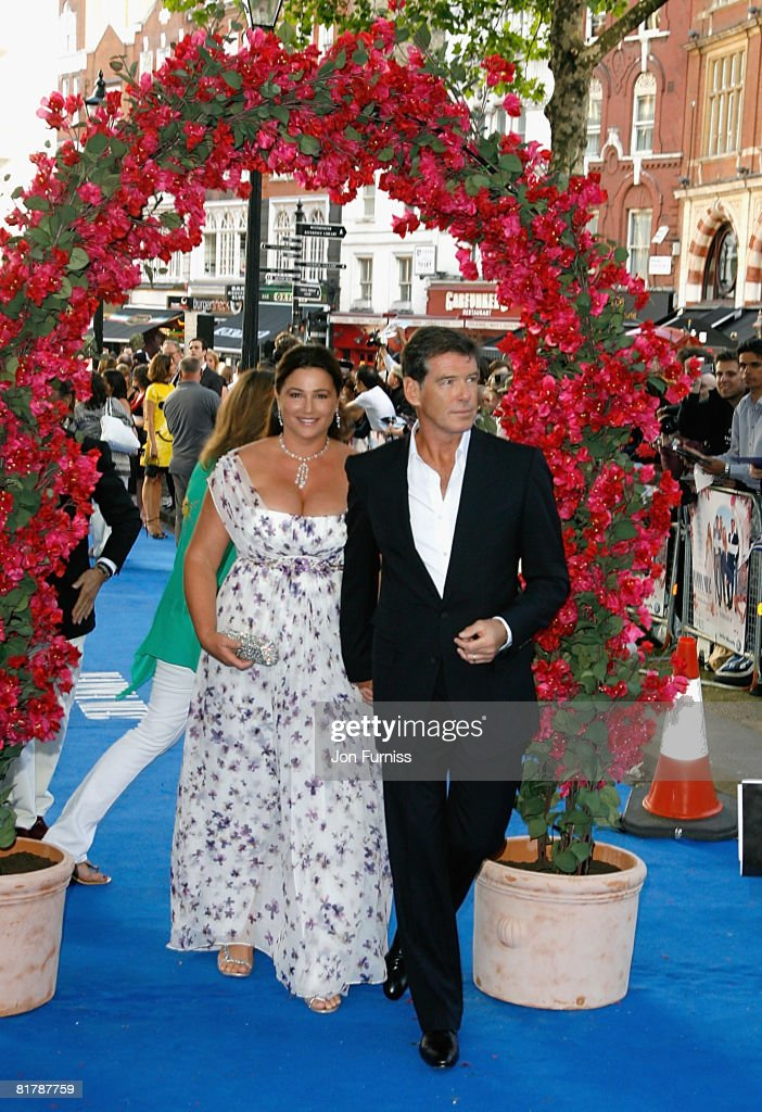 Actor Pierce Brosnan and his wife Keely Shaye Smith attends the Mamma Mia! The Movie world premiere held at the Odeon Leicester Square on June 30, 2008 in London, England.