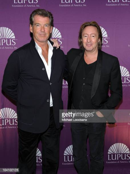 Actor Pierce Brosnan and musician Julian Lennon attend the Star Studded Inaugural Butterfly Gala hosted by the Lupus Foundation of America at...