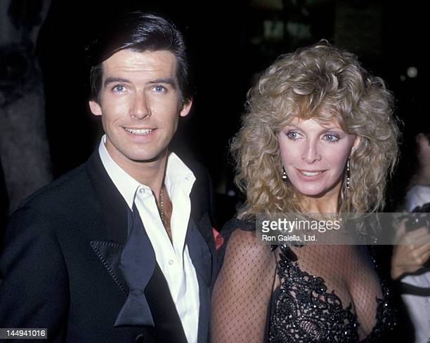 Actor Pierce Brosnan and wife Cassandra Harris attend the 10th Annual People's Choice Awards After Party on March 15 1984 at Ma Maison Restaurant in...