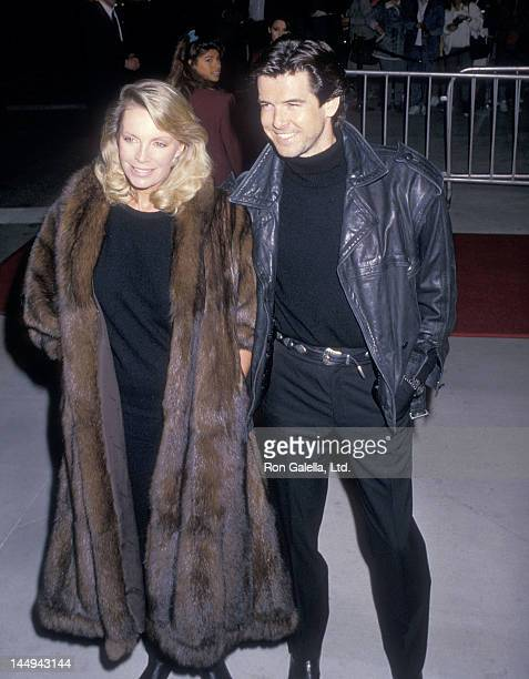 Actor Pierce Brosnan and wife Cassandra Harris attend the 14th Annual People's Choice Awards on March 13 1988 at 20th Century Fox Studios in Century...