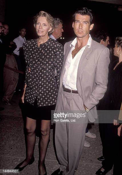 Actor Pierce Brosnan and wife Cassandra Harris attend the 'Postcards from the Edge' Century City Premiere on September 10 1990 at Cineplex Odeon...