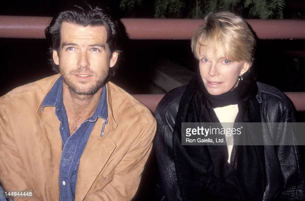 Actor Pierce Brosnan and wife Cassandra Harris attend the PreShow Backstage Pizza Party for the Teenage Mutant Ninja Turtle's 'Coming Out of Their...