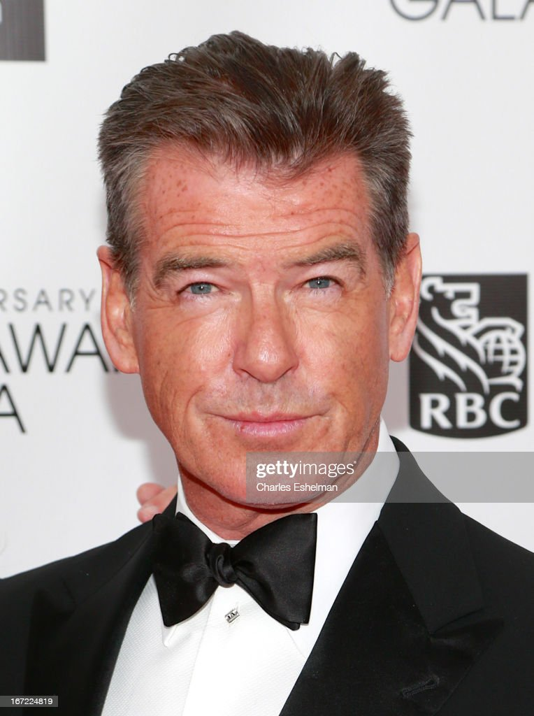 Actor Pierce Brosnan arrives at the 40th Anniversary Chaplin Award Gala at Avery Fisher Hall at Lincoln Center for the Performing Arts on April 22, 2013 in New York City.