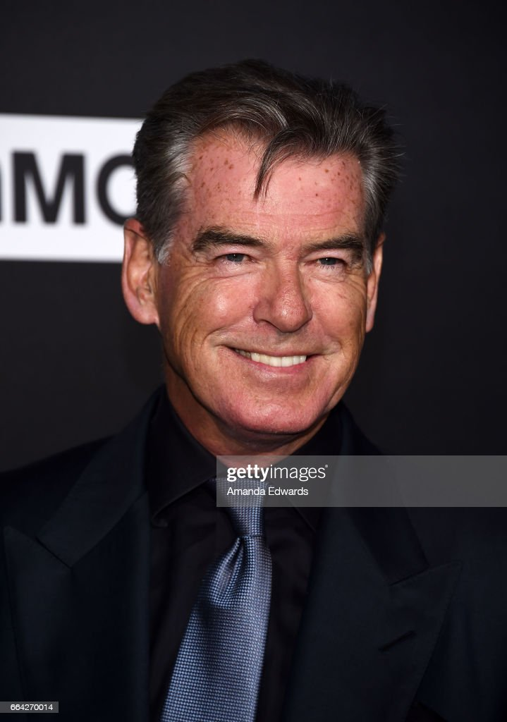 Actor Pierce Brosnan arrives at the premiere of AMC's 'The Son' at ArcLight Hollywood on April 3, 2017 in Hollywood, California.