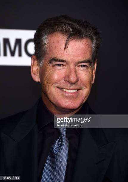 Actor Pierce Brosnan arrives at the premiere of AMC's 'The Son' at ArcLight Hollywood on April 3 2017 in Hollywood California