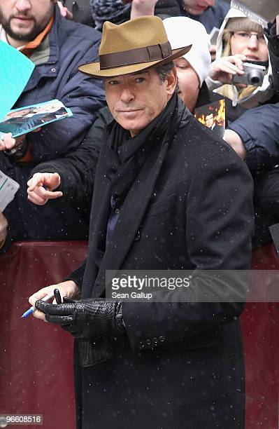 Actor Pierce Brosnan arrives to the 'Ghost Writer' Photocall during day two of the 60th Berlin International Film Festival at the Grand Hyatt Hotel...