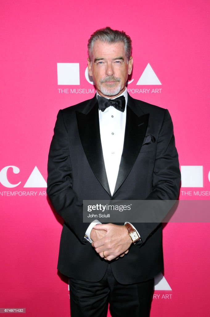 Actor Pierce Brosnan at the MOCA Gala 2017 honoring Jeff Koons at The Geffen Contemporary at MOCA on April 29, 2017 in Los Angeles, California.