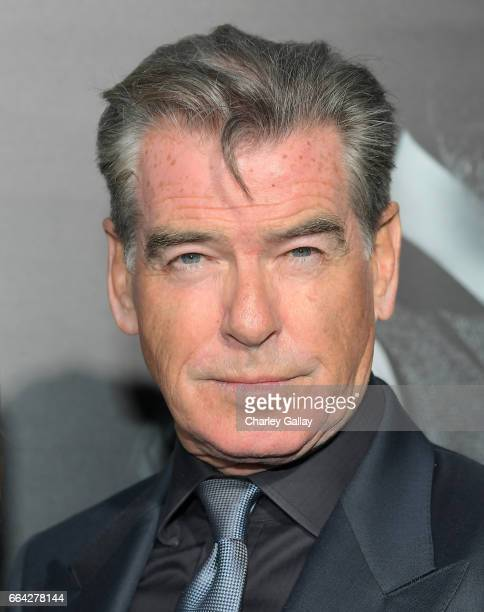 Actor Pierce Brosnan attends AMC's 'The SON' premiere at ArcLight Hollywood on April 3 2017 in Hollywood California