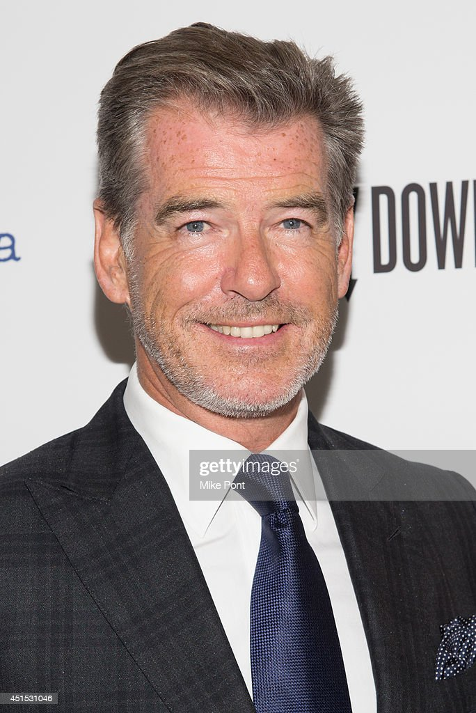 Actor <a gi-track='captionPersonalityLinkClicked' href=/galleries/search?phrase=Pierce+Brosnan&family=editorial&specificpeople=194774 ng-click='$event.stopPropagation()'>Pierce Brosnan</a> attends the 'A Long Way Down' New York premiere at City Cinemas 123 on June 30, 2014 in New York City.
