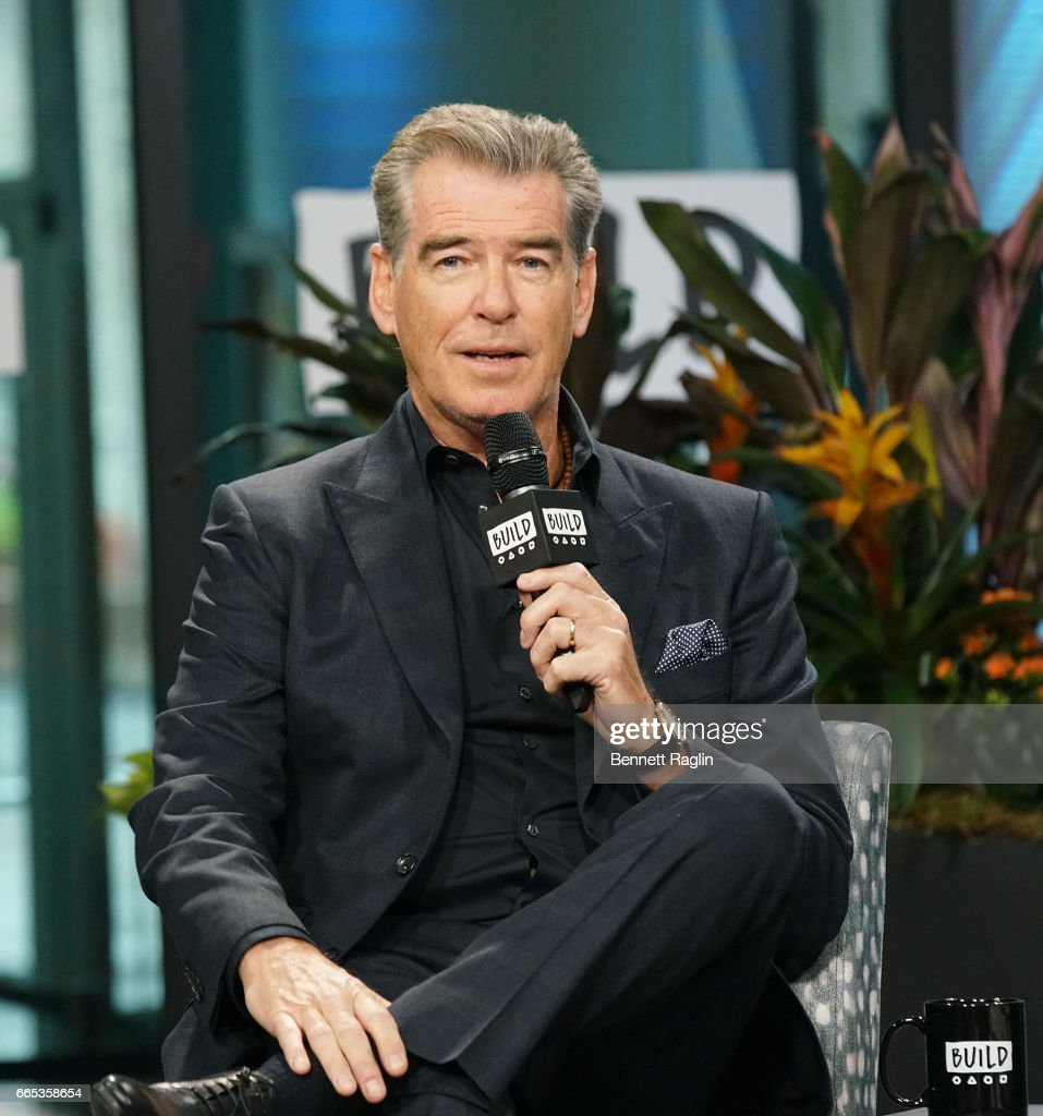Actor Pierce Brosnan attends the Build Series at Build Studio on April 6, 2017 in New York City.