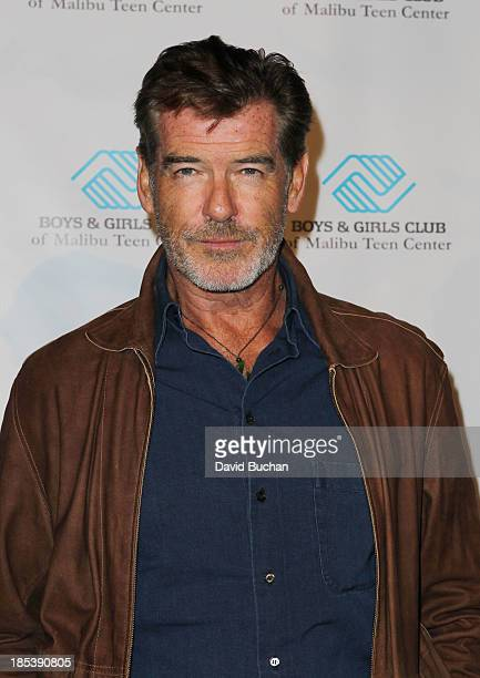 Actor Pierce Brosnan attends the Malibu Boys And Girls Club Gala on October 19 2013 in Malibu California